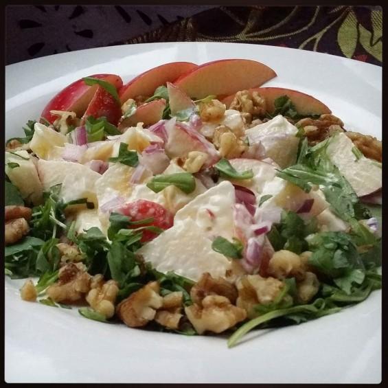 Arugula Waldorf-ish Salad