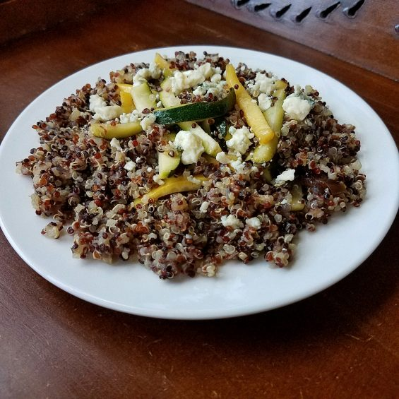 Veggie Quinoa with Bleu Cheese and Dates