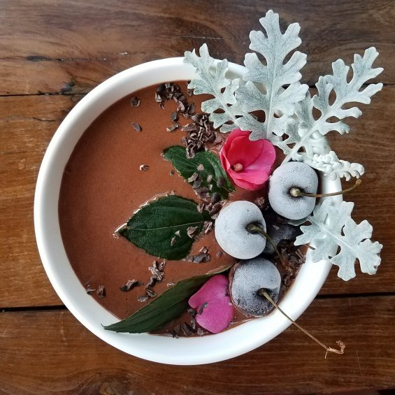 Chocolate Covered Cherry Smoothie Bowl