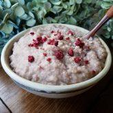 Coconut Cream CinnaBerry Porridge Recipe