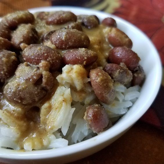 Creamy Curried Beans and Rice