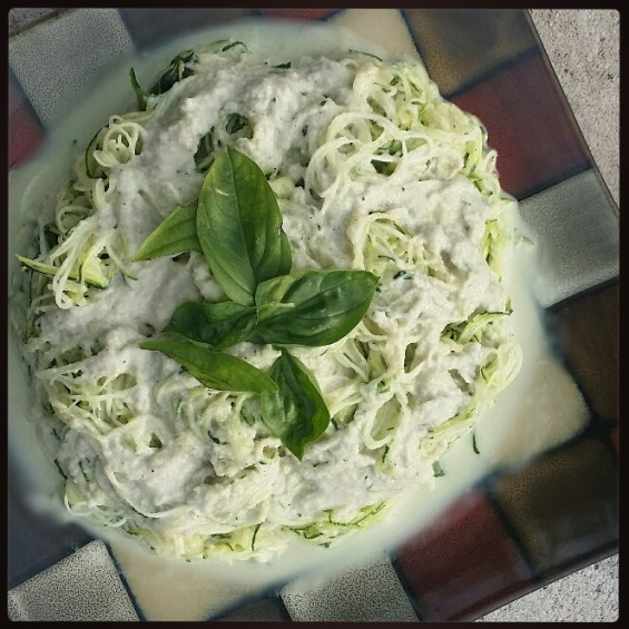 Angel Hair Zucchini with Creamy Cashew Sauce