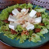 Cinnamon spice pear salad