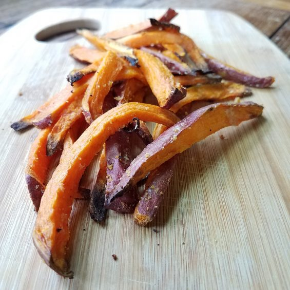 Almost Perfect Crispy Edged Sweet Potato Fries
