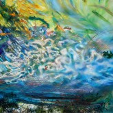 Aqueous painting by Margaret Lazzari -