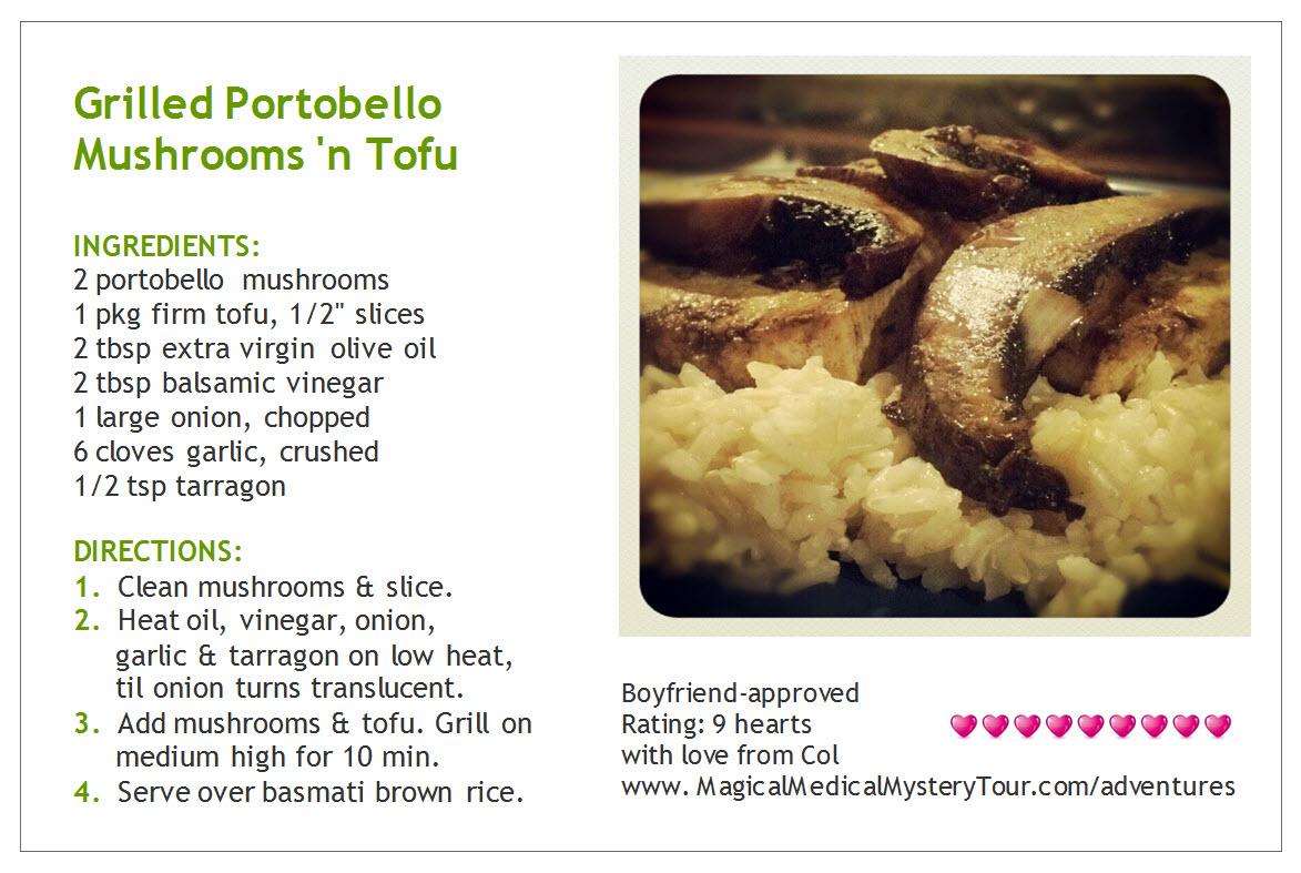 grilled portobello mushrooms 'n tofu