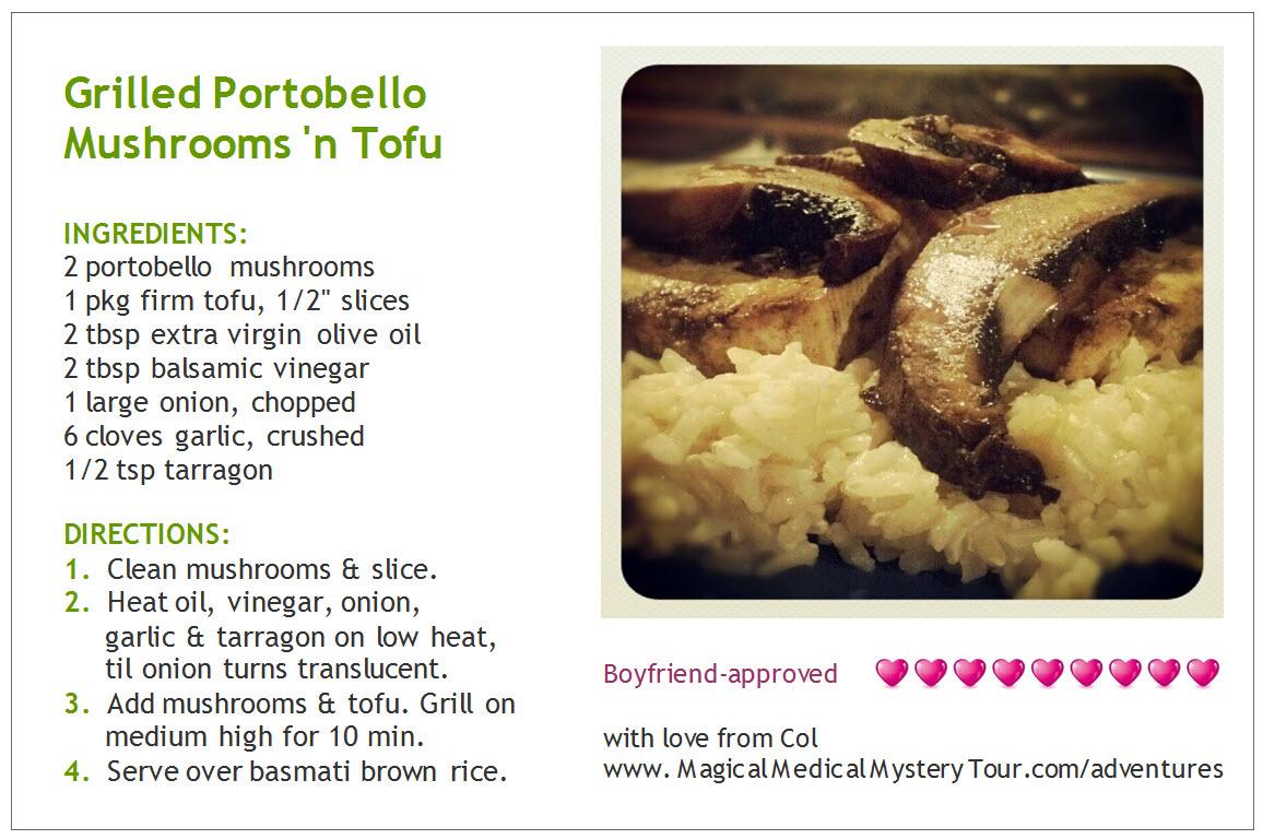 Grilled Portabello 'n Tofu recipe