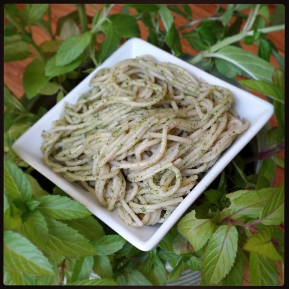 Cashew Pesto with Brown Rice Pasta