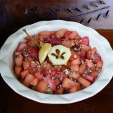 nutty strawberry apple pie