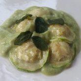 Zucchini Cashew Cheez Ravioli
